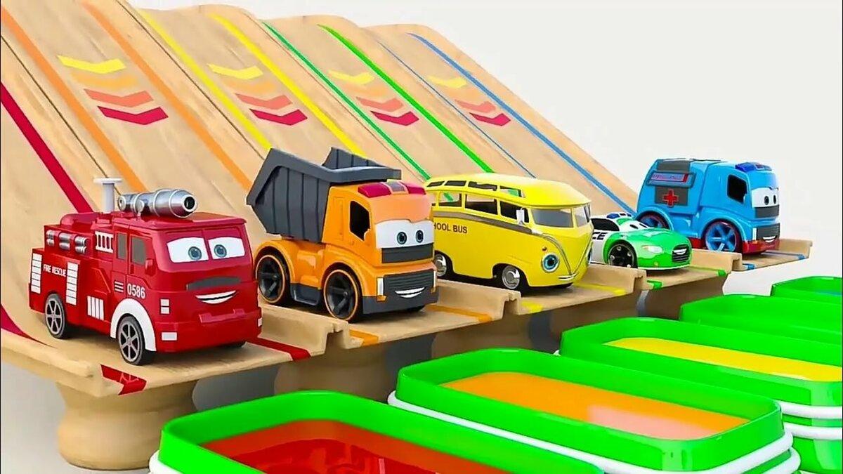 Машины с цветами мультик