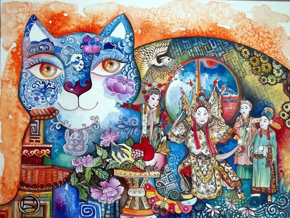 новообразования коты декоративные картины тупо выпаюю замку