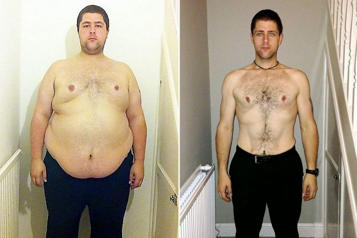 Похудение Результаты Мужчины. Как легко и быстро мужчине сбросить лишний вес в домашних условиях