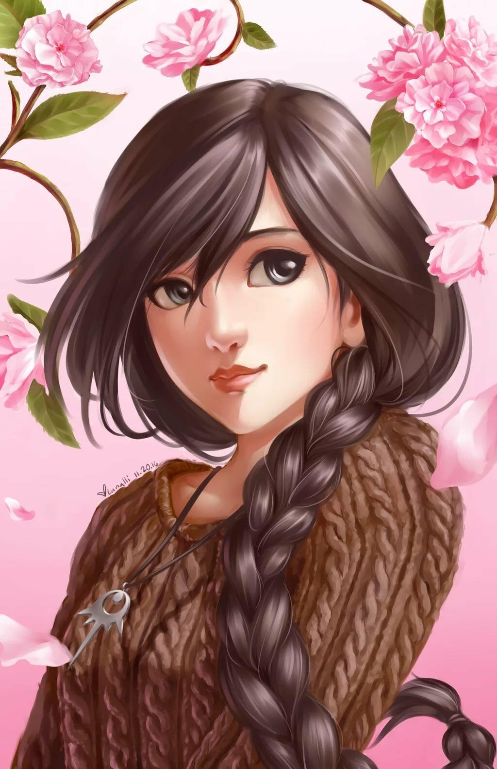 Картинки аниме шатенки