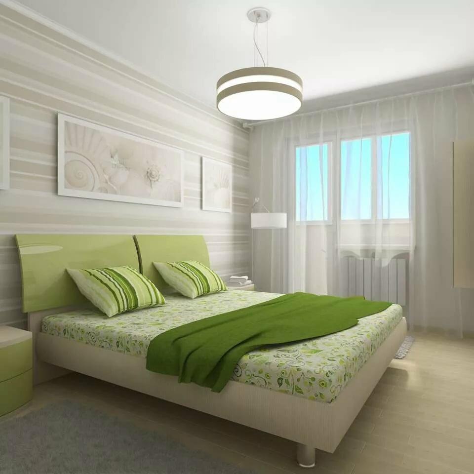 спальня в зеленых тонах фото и идеи дизайна
