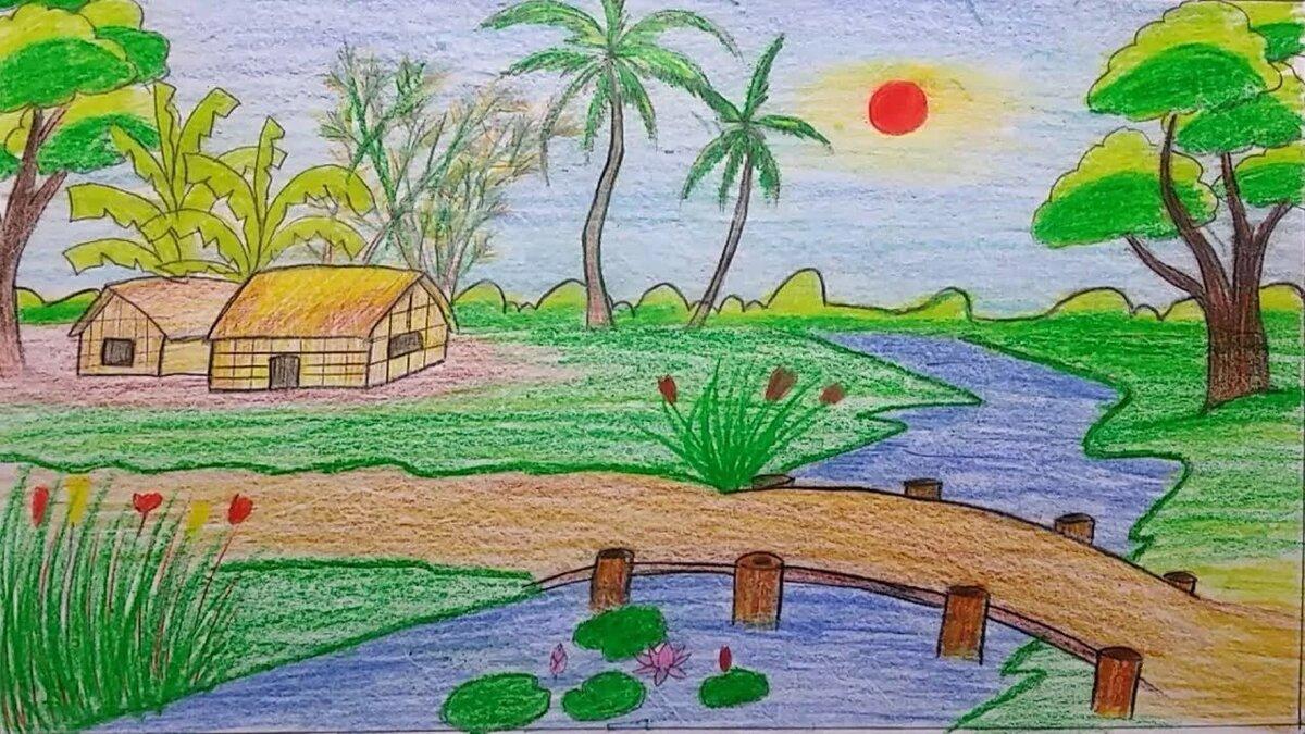 картинка про природу как рисовать