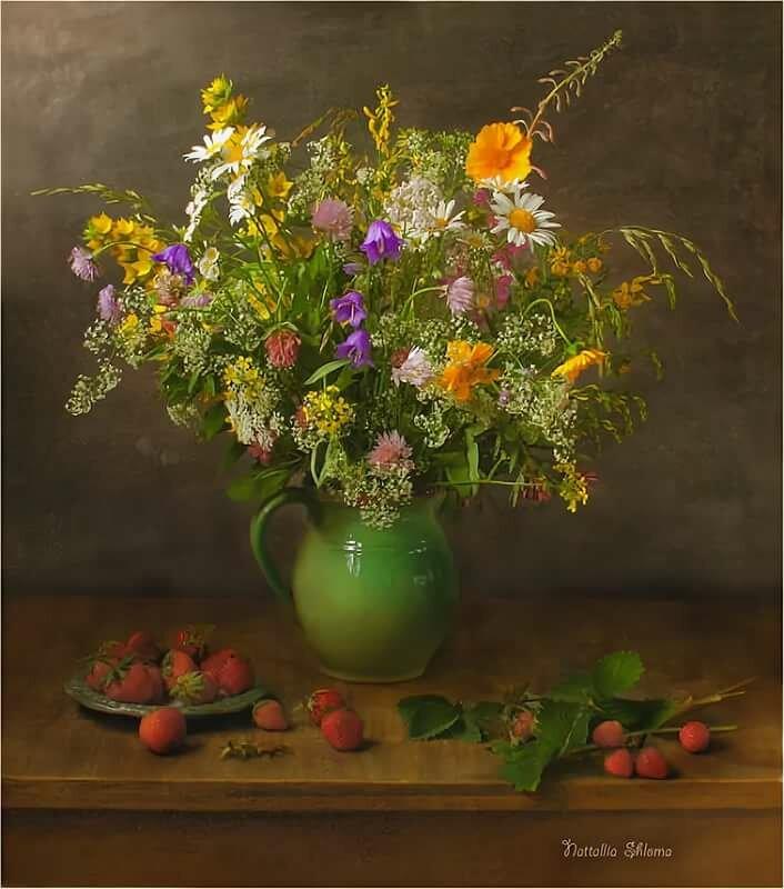 картинки натюрморты с полевыми цветами наиболее продвинутые