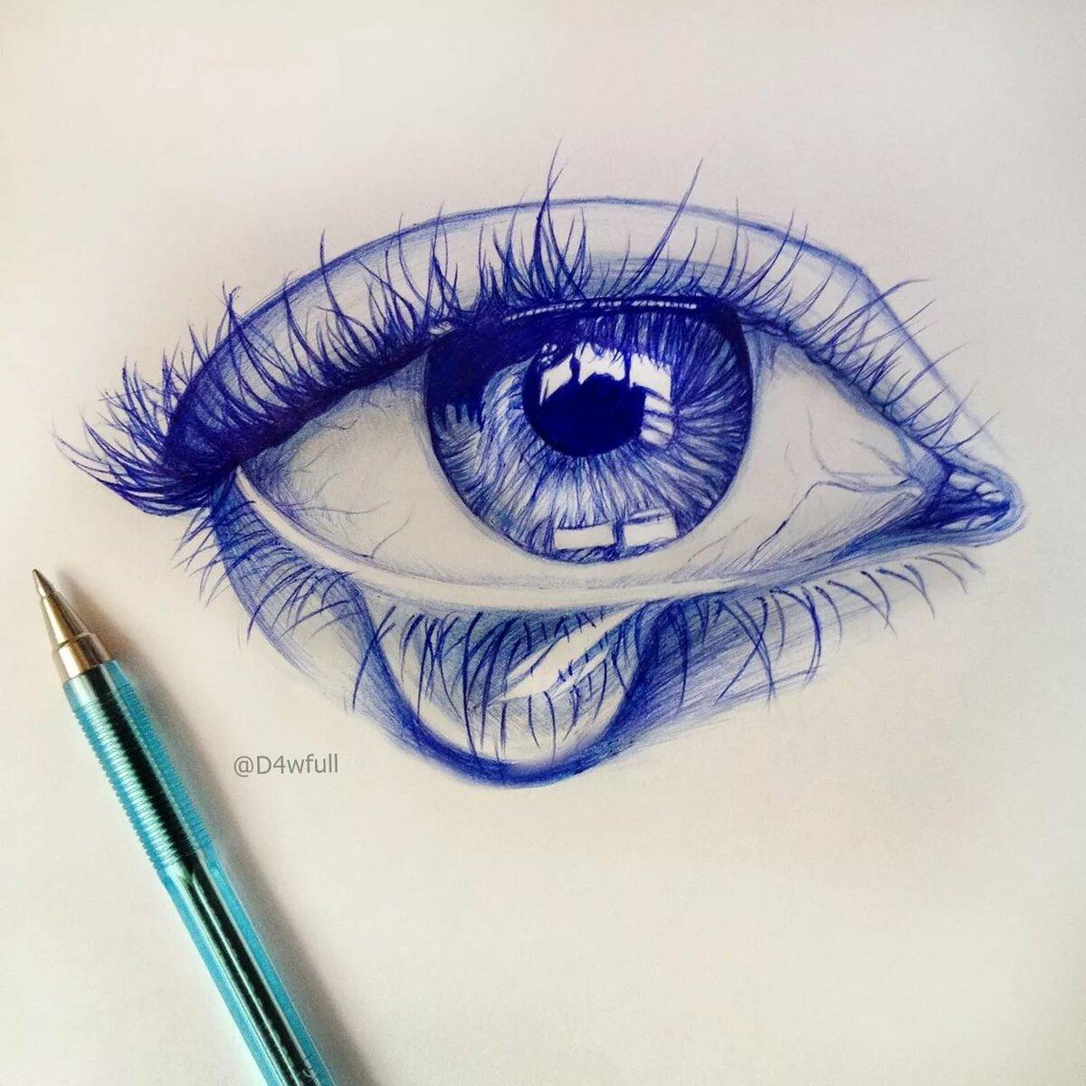 красивые рисунки шариковой ручкой для начинающих для
