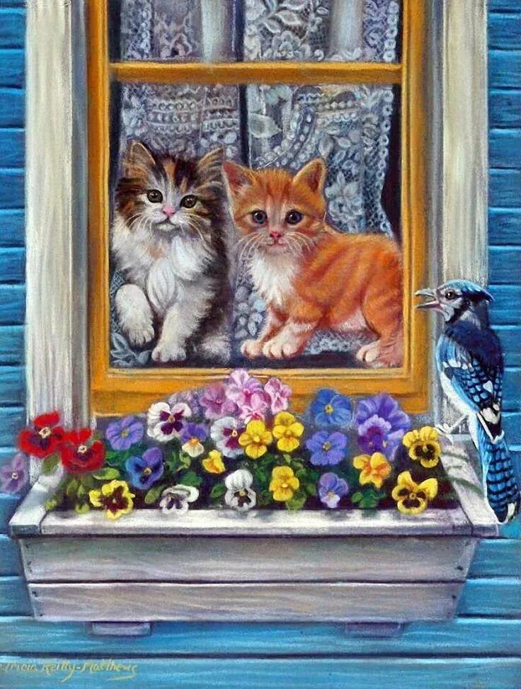 Мая, коты в картинках для декупажа