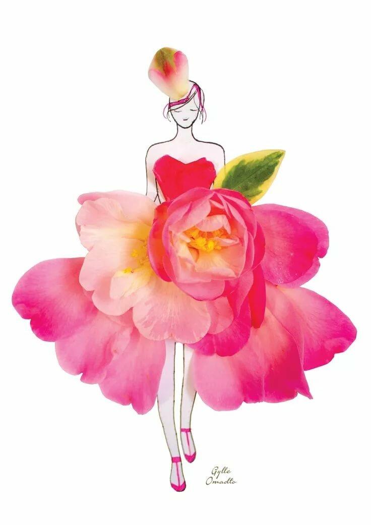 Картинка из лепестков цветов