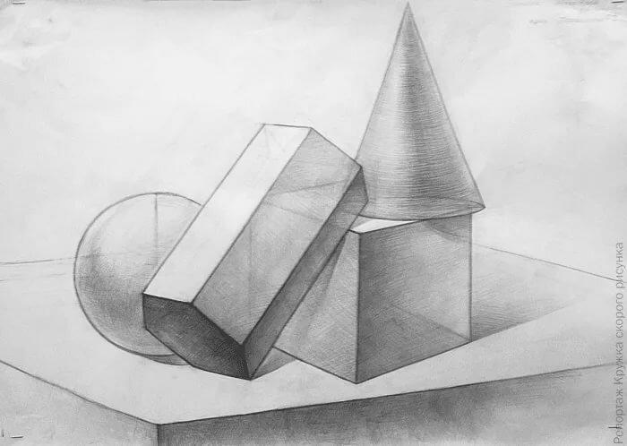 картинка геометрических фигур карандашом нужно даже мелкие