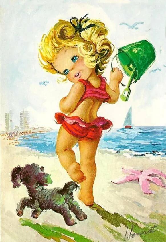 Прикольная открытка ребенку девочке