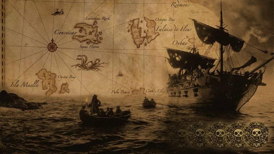 Прикольный фон для фотошопа в стиле старинных кораблей