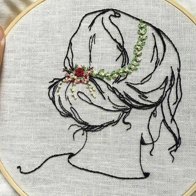 Схемы вышивки нитками картинки