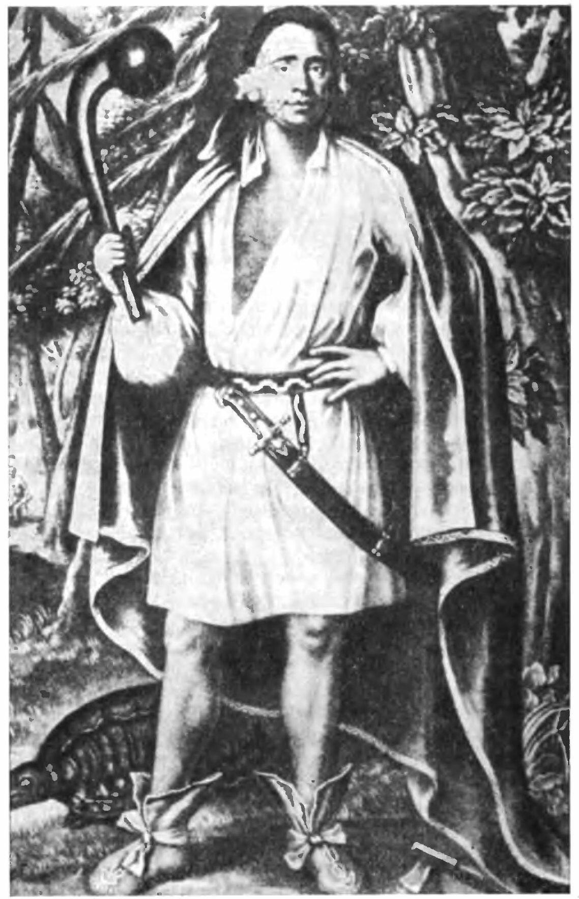 Вождь Этоввагаум, по прозвищу Николас, из племени могикан, 1710 г. Гравюра Джона Саймона по картине Джона Верелста.