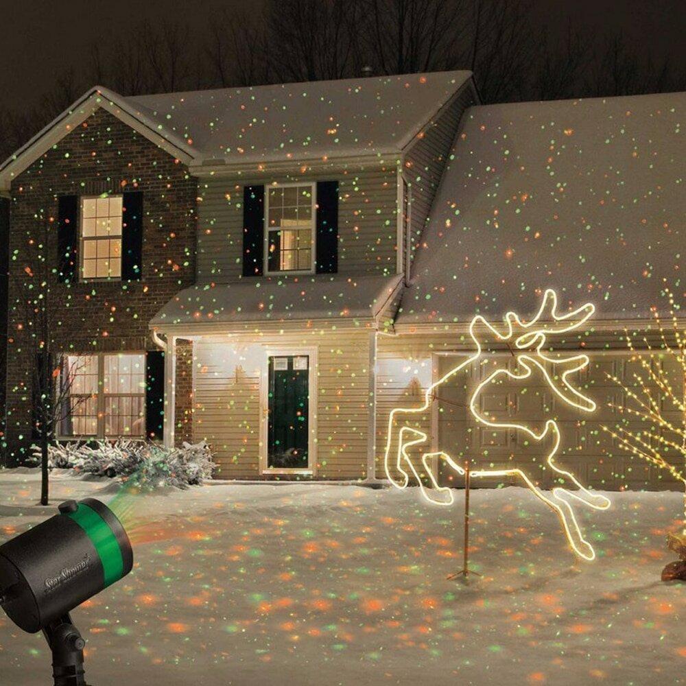 Лазерный проектор для Рождества в Видном