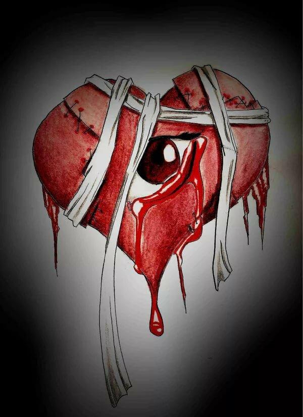Рана на сердце картинки