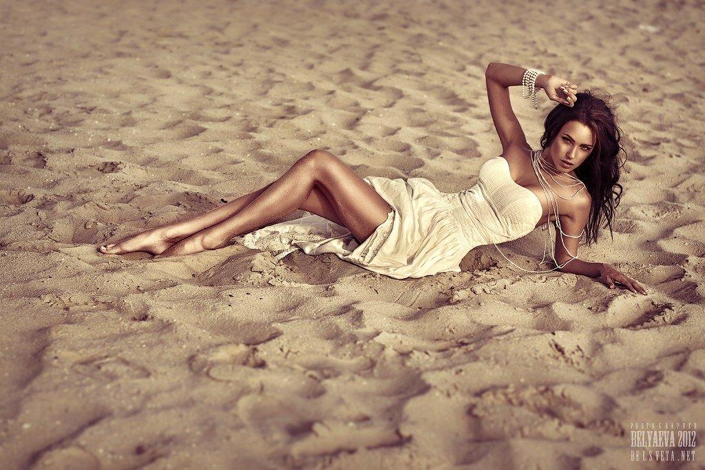 как фотографироваться на песке вариант черная железная