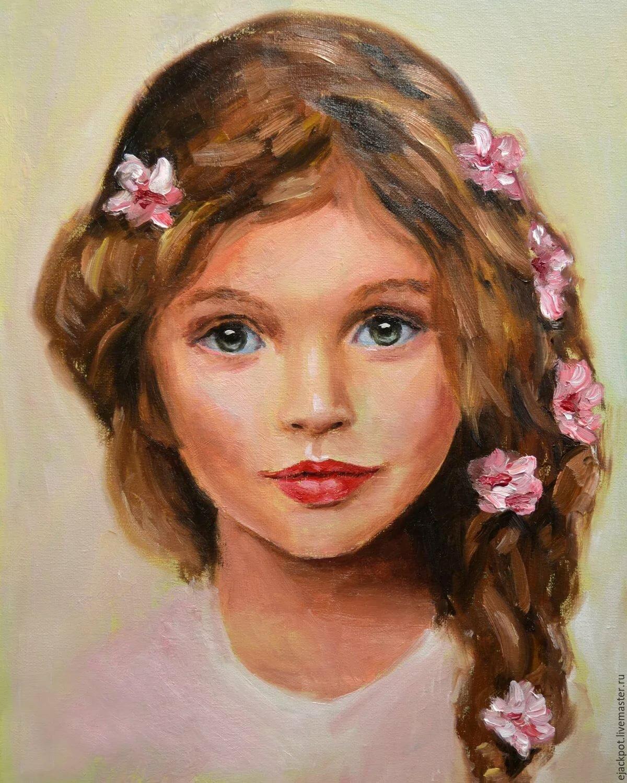 Детские портреты в открытках, кружками для