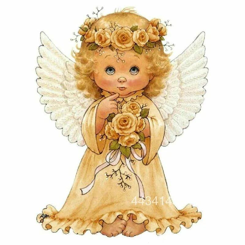 открытка ангел с крыльями сне