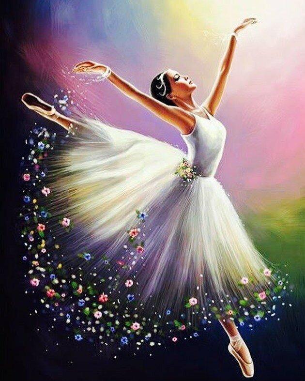 Дню, открытка танцоров