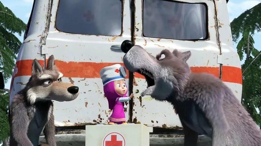 Маша и медведь скорая на помощь картинки