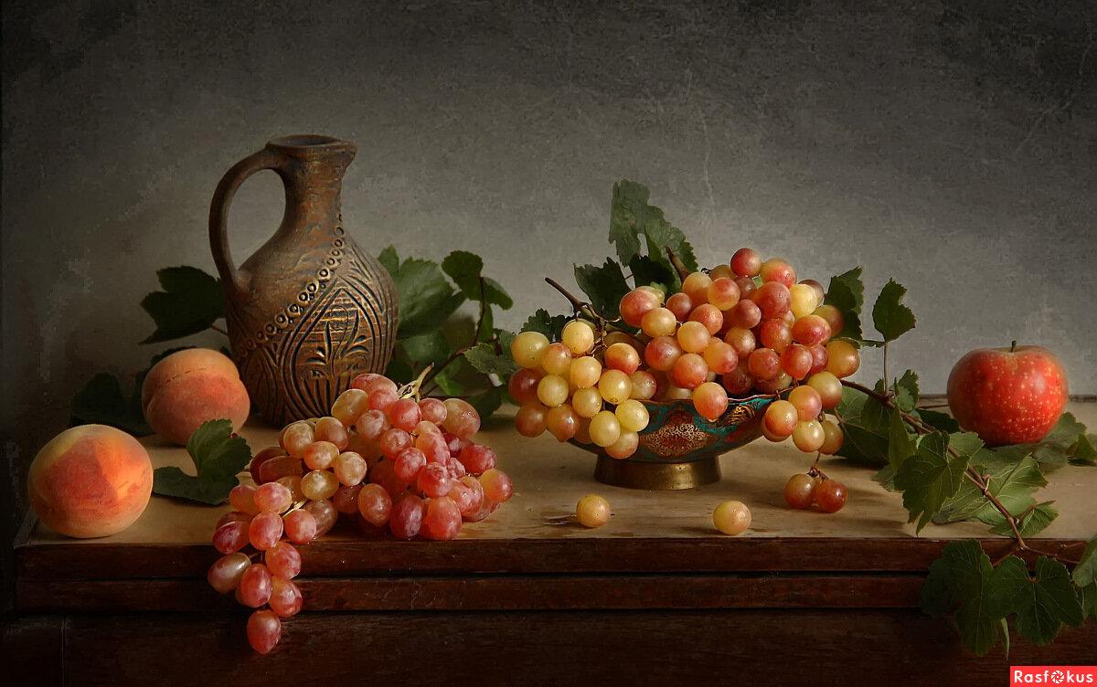 классический французский фото натюрморт с виноградом фото, картинки обои