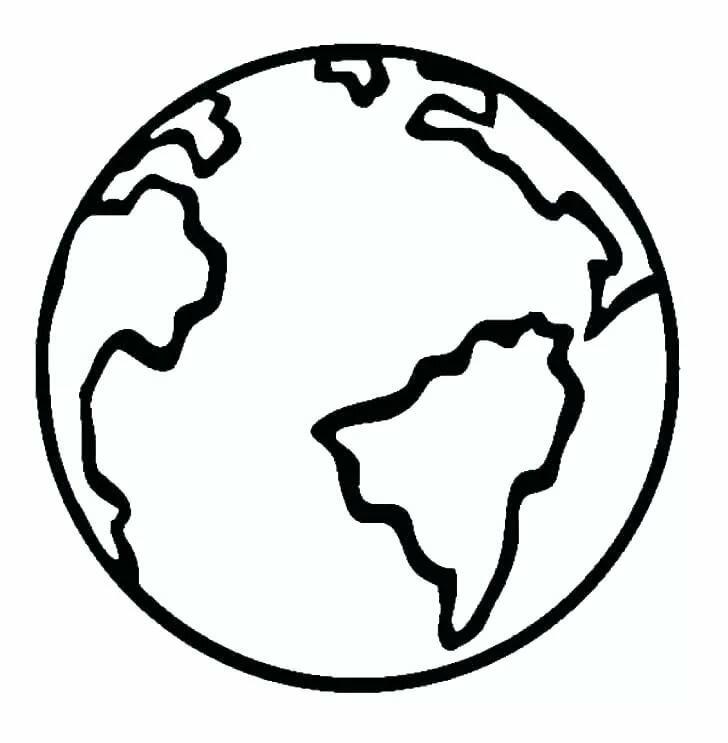 Черно белая картинка планета земля
