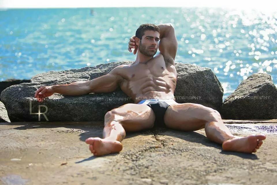 Gay men vacation naked
