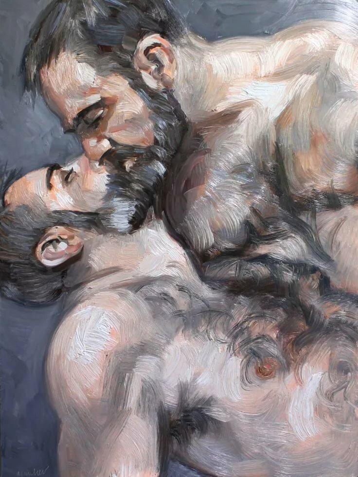 арт картинки с мужиками гей обожает анальный