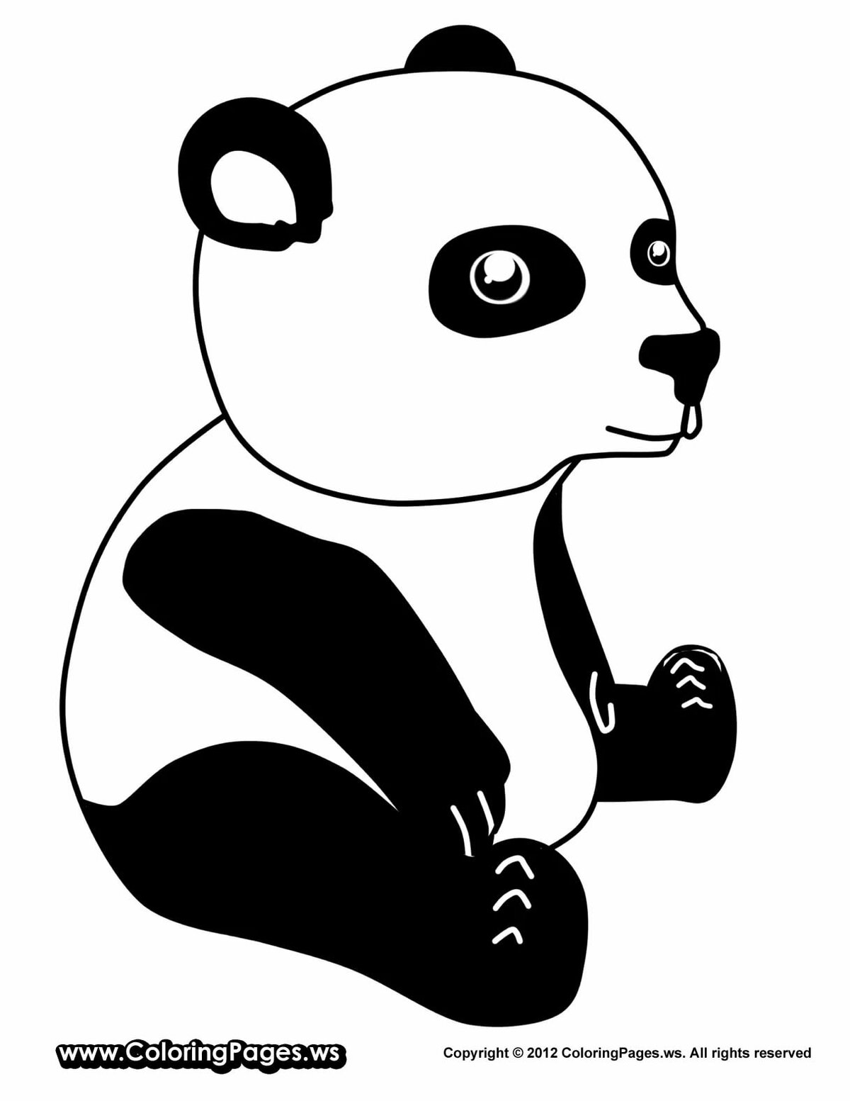 Раскраска панда картинки