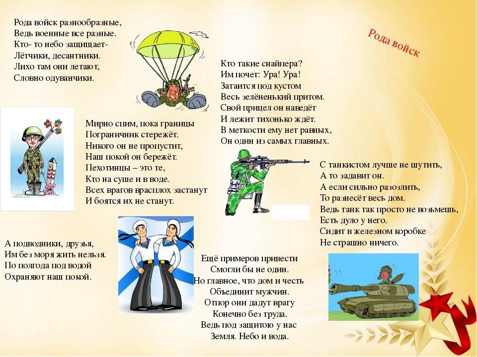 Картинки о родах войск для детей детского сада