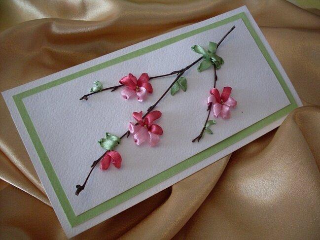 Сакура открытка своими руками, для