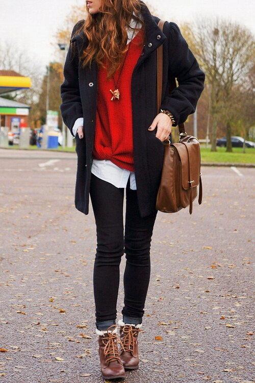 заказов с чем носить коричневые ботинки женские фото примерами дизайнерских переделок