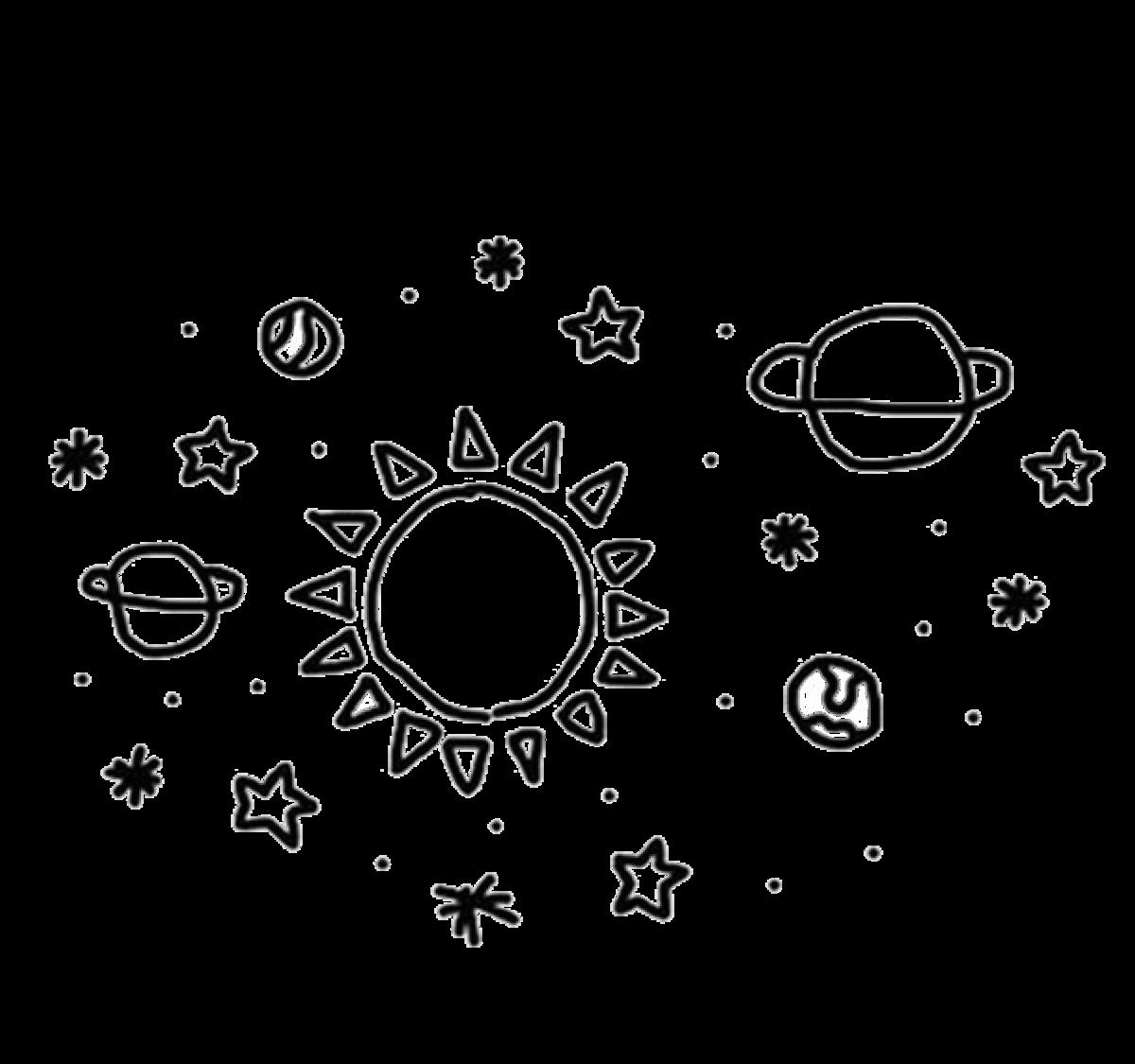 star space drawings - 600×600