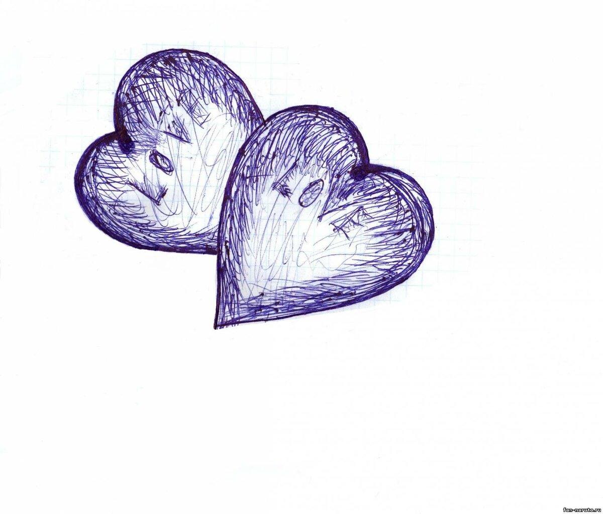 восторге уже картинки которые можно срисовать сердце сушка