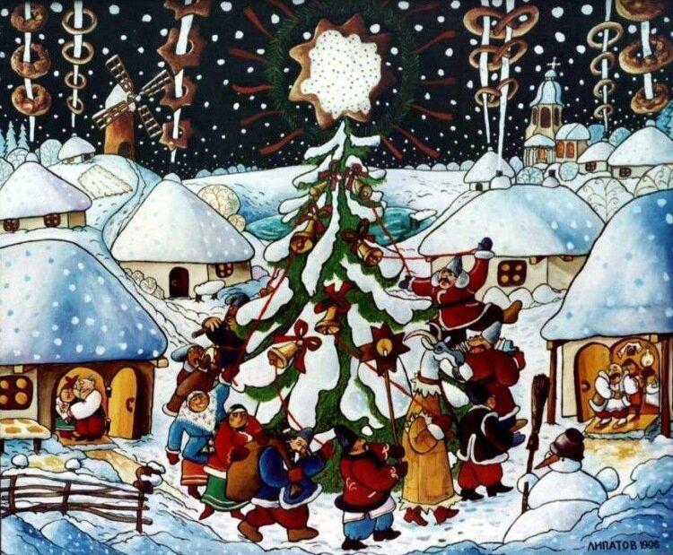 Украинские открытки на новый год, днем петровым