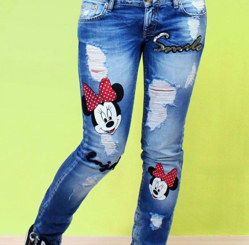 Поздравления дню, джинсы с прикольным рисунком