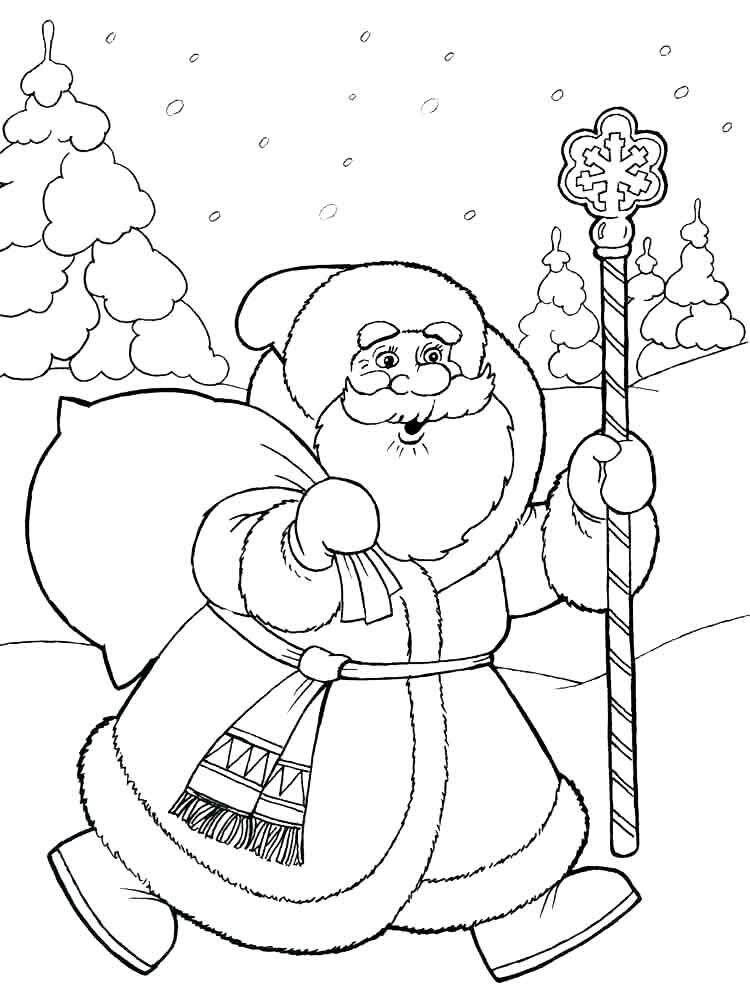 Раскраски дед мороз и снегурочка для детей, день независимости
