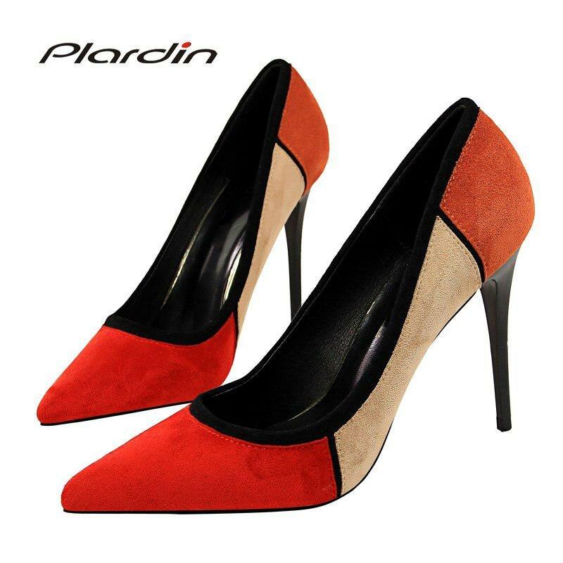 cbb4d5cb6 ... Plardin/four seasons Новая женская обувь Блёстки острый носок пикантные  Для женщин вечерние свадебные ночной