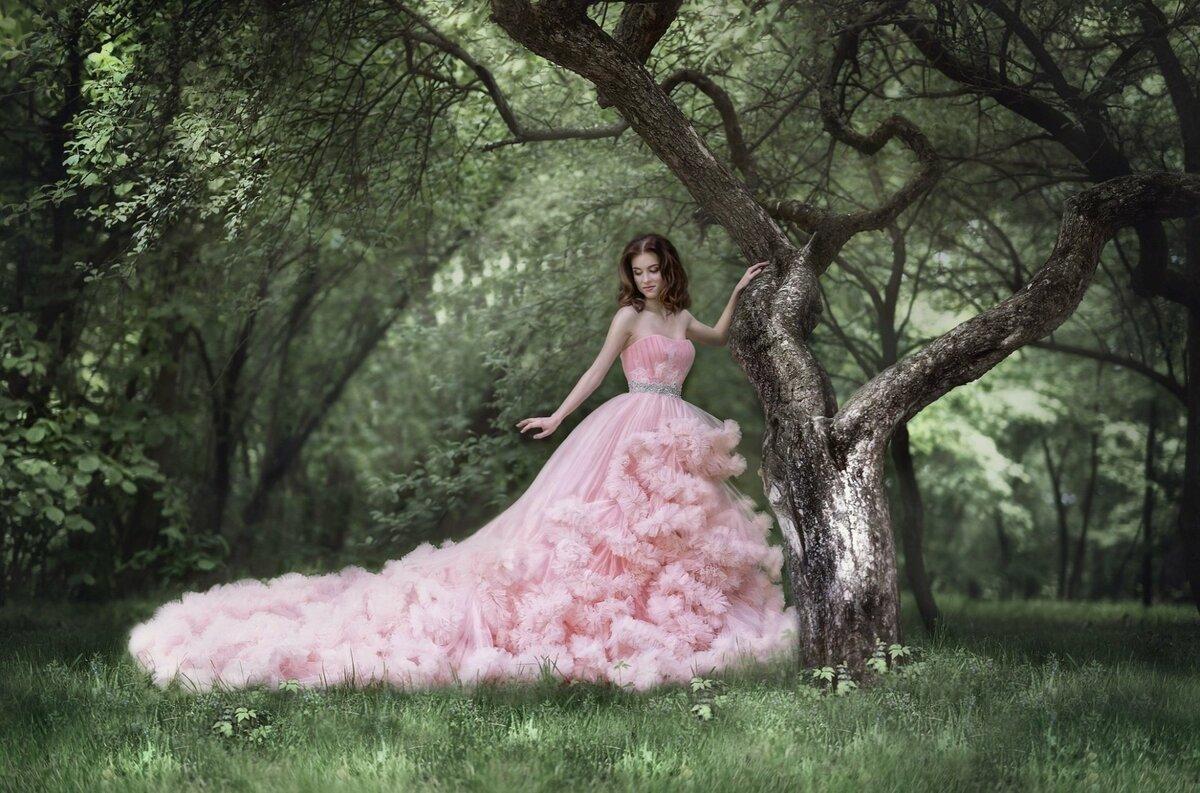 Позы для фотосессии в пышном платье