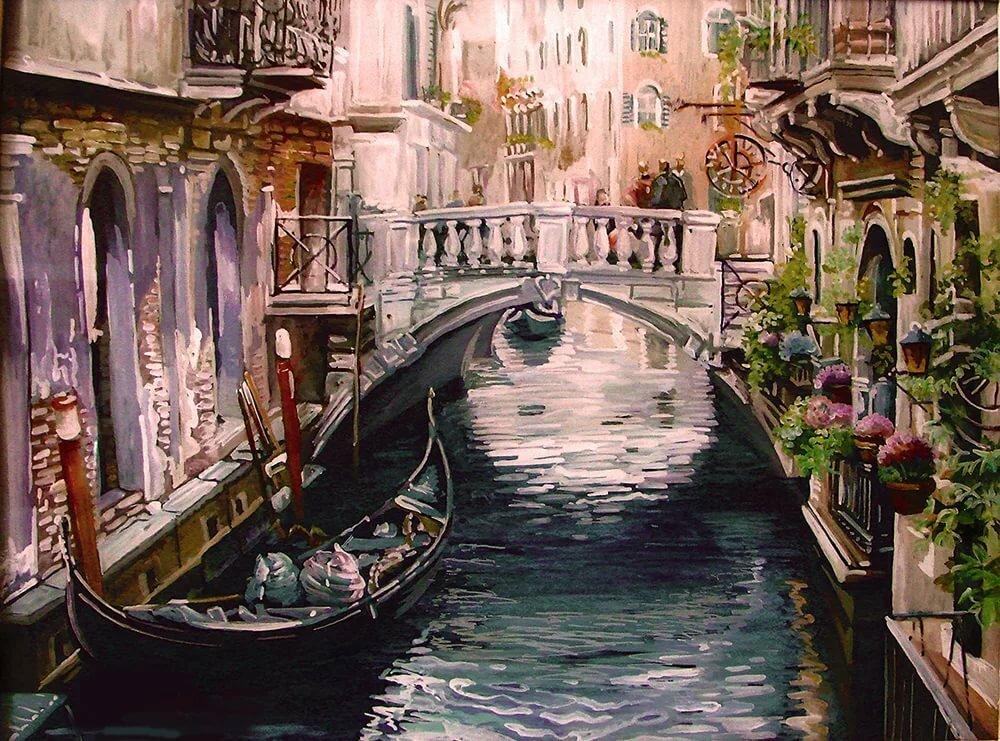 Нарисованные картинки венеции