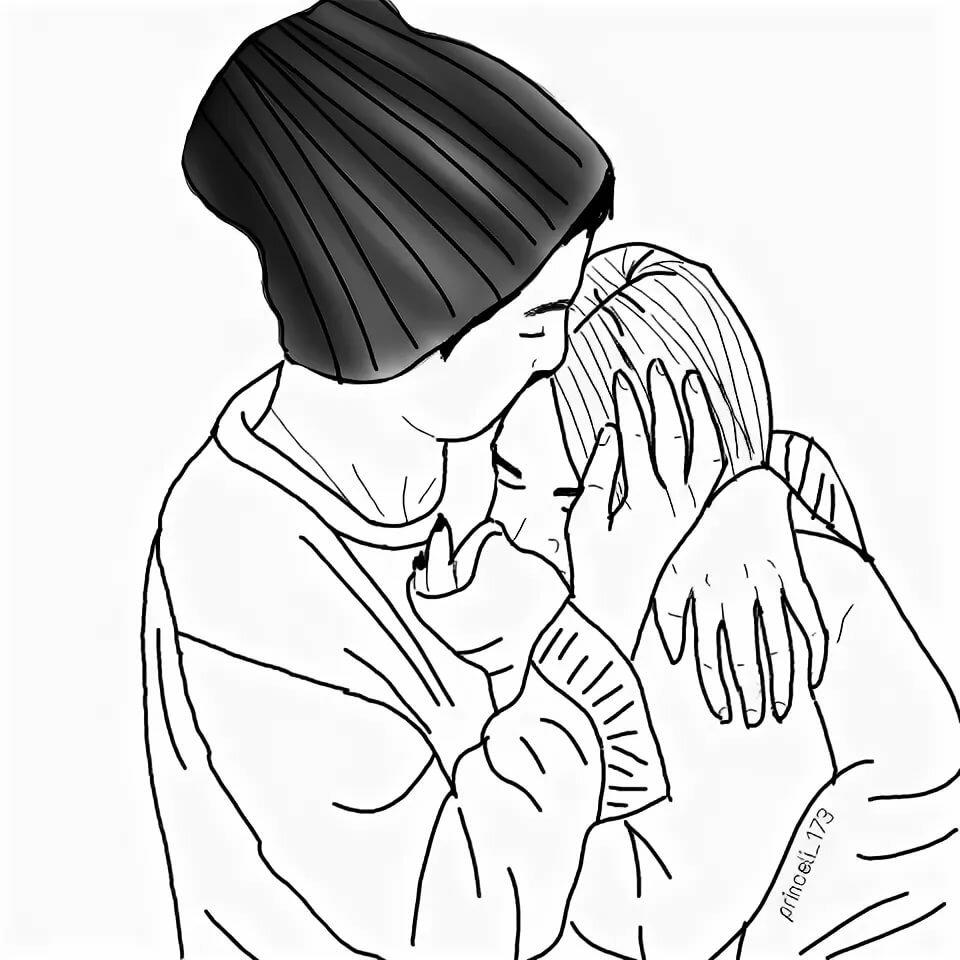 Коллег, черно белые картинки любовь для распечатки