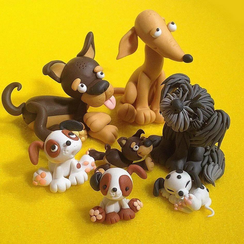 Собаки из пластилина картинки