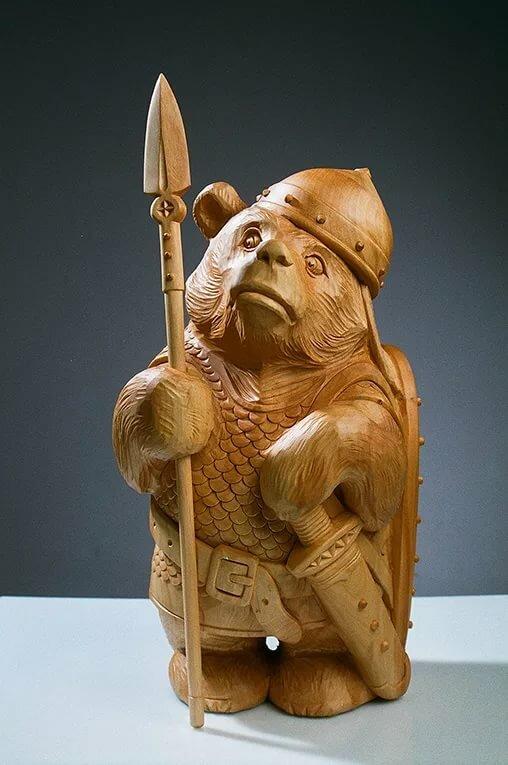 вершине фигуры воинов фото деревянных еще больше интересных