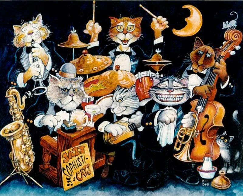 Открытка с днем рождения поющие коты, год открытки