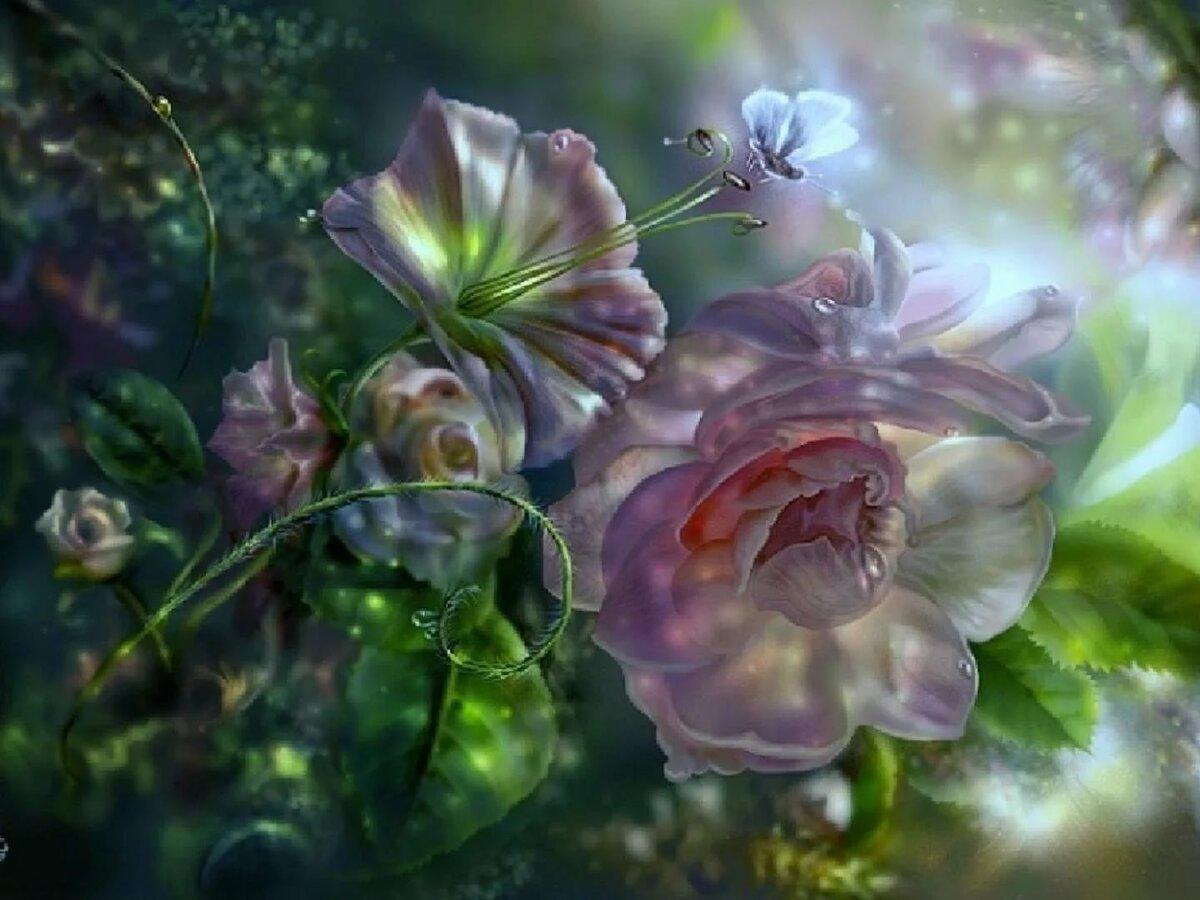 картинки фантазийных цветов том, как удается