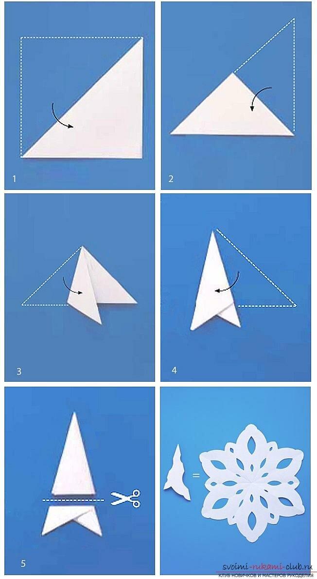 Гифки как делать снежинки из бумаги своими руками