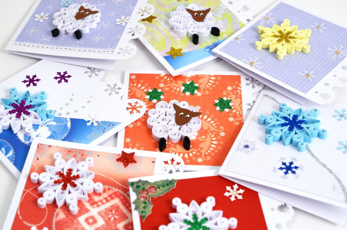 Как можно украсить открытку на новый год, открытки очень очень