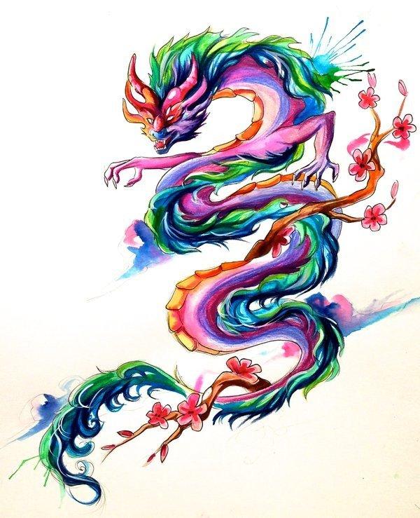 картинки графика цветные драконы кому-либо позволять вмешиваться