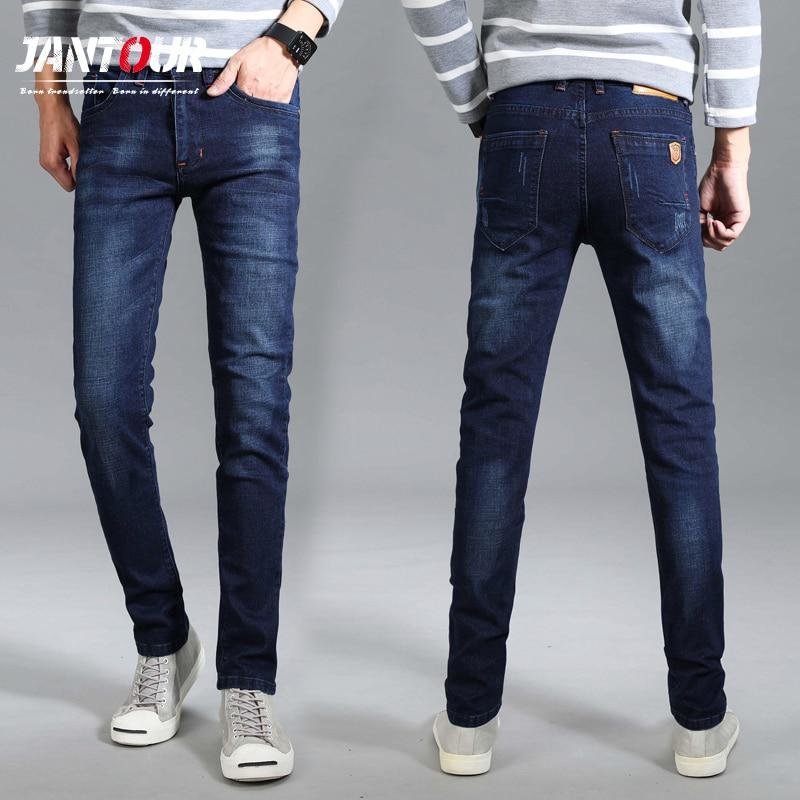 997ad7ce24c ... 2018 Брендовые мужские дизайнерские стрейч повседневные Прямые брюки  джинсы мужской Regular Fit Хлопок Бизнес Брюки Штаны