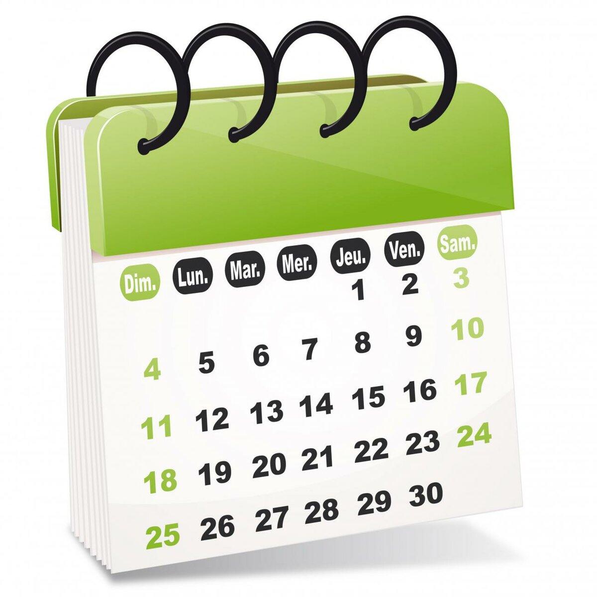 Календарь картинки рисованные