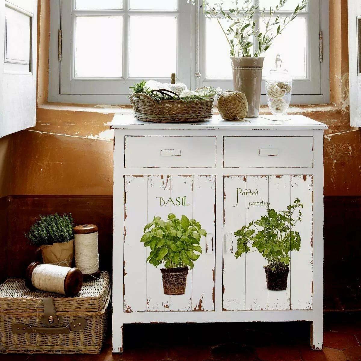 ведерко декорирование старой мебели своими руками фото нарезаются