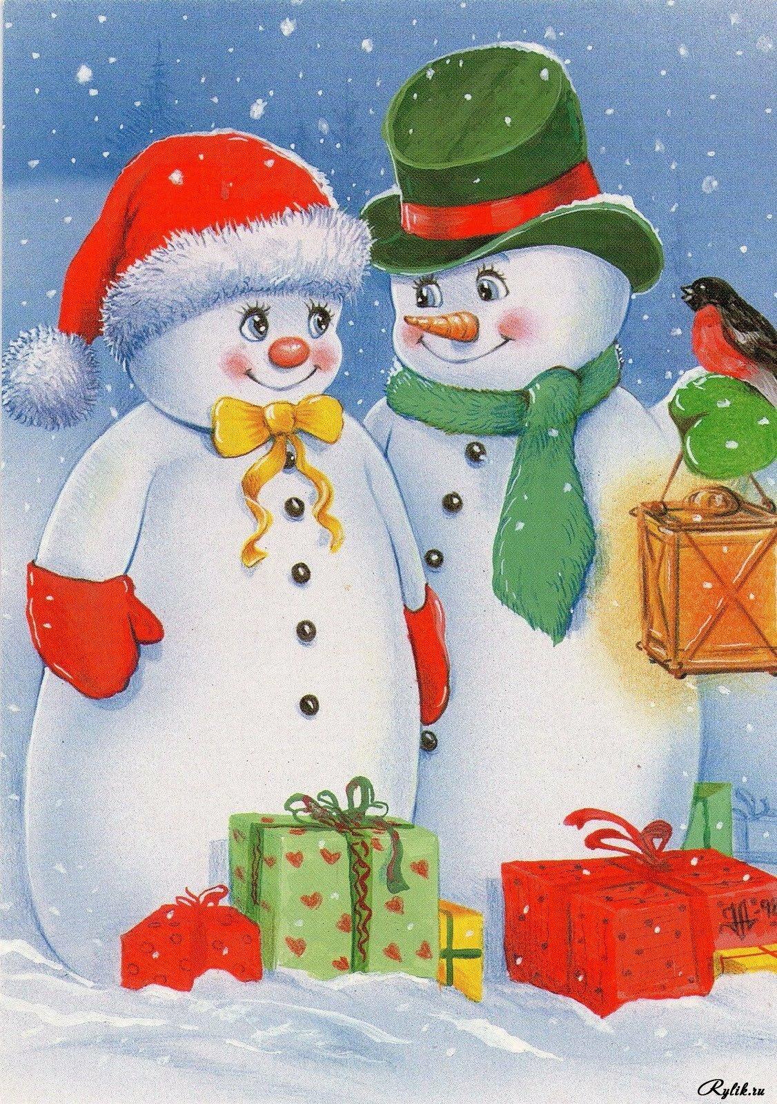 Открытках, новый год рисунок на открытке